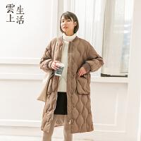 【下单领券立减120元】云上生活原创复古宽松加厚女中长款棉衣外套M9422