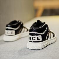 冬季板鞋男童贝壳头运动鞋儿童保暖鞋子
