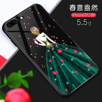 �O果6手�C��iPhone6plus套玻璃防摔6s潮男女8p��意全包7plus��性