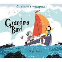 英文原版 奶奶的小鸟 Benji Davies 插画绘本 浴缸里的鲸鱼系列 Grandma Bird (The Sto