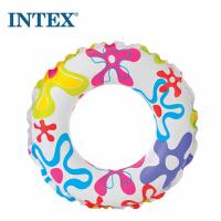 INTEX流行组浮圈59230/59241游泳圈儿童透明浮圈救生圈(图案随/机)