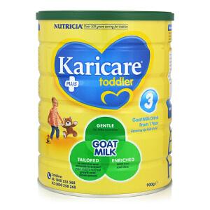 新西兰Karicare可瑞康婴儿羊奶粉3段(12个月以上宝宝)900g【1罐起发】