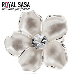 皇家莎莎RoyalSaSa饰品花朵韩国胸花胸针复古大披肩围巾扣女三环丝巾扣HS1407SP491