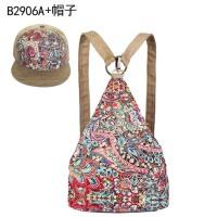 民族风女包个性双肩包帆布包新款创意双肩包女背包小碎花休闲包包小清新旅行包