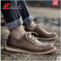 Z.Suo/走索男鞋新款男士休闲鞋男工装鞋休闲皮鞋英伦低帮鞋潮鞋ZS16012