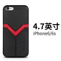 苹果6真皮手机壳 iphone6 plus 商务手机套6plus保护皮套 4.7寸iPhone6幸运鸿v