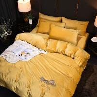 意大利绒四件套加厚冬季法莱绒珊瑚绒双面绒被套床单双人床上用品