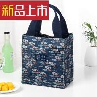 保温饭盒袋加厚铝箔帆布放饭盒包方手拎包餐盒便当袋子手提袋