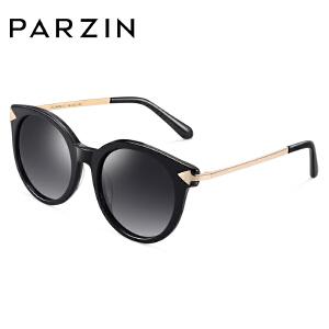 帕森偏光太阳眼镜女 金属板材箭头镜腿潮墨镜女驾驶镜9680