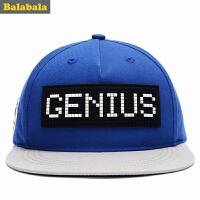 巴拉巴拉男童休闲帽子秋装2017新款中大童鸭舌帽时尚棒球帽
