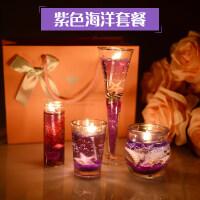 果冻蜡烛浪漫生日礼物无烟蜡烛七夕情人节蜡烛小礼品创意烛光晚餐