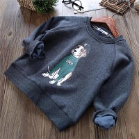 男童卫衣秋冬季儿童装保暖上衣打底衫潮