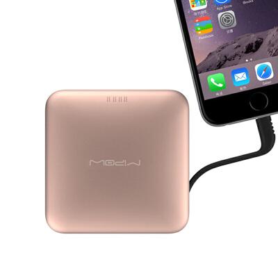 MIPOW SPL09苹果移动电源MFi认证IPHONE 6S/7/8便携自带线超薄充电MFI认证 IF设计奖 铝合金外关 聚合物电芯