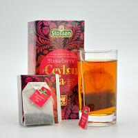 司迪生 草莓风味红茶1.5g*25茶包/盒 斯里兰卡锡兰红茶袋泡茶