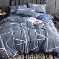 床上四件套全棉纯棉床单三件套1.8/2.0m床双人简宿舍单人男