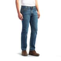 LEE 李 Regular Fit 新款男士直筒中腰提臀休闲蓝色牛仔裤