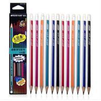 马可铅笔 马可9001E-12CB三角铅笔无铅毒学生带橡皮铅笔赠笔刨
