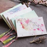 三年二班原创复古中国风线装本空白页日记事本文具笔记本书写本子