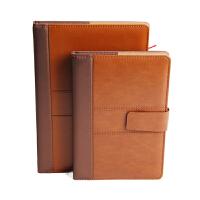 笔记本A5磁扣记事本B5皮面本工作日记本商务办公本定制LOGO包邮