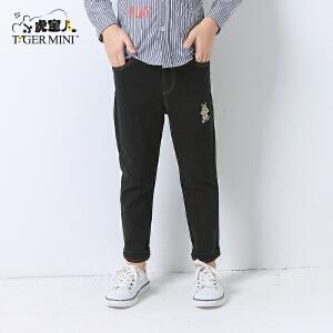 小虎宝儿童装男童裤子儿童韩版直筒长裤2017新款牛仔裤秋装中大童