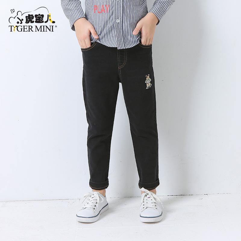 小虎宝儿童装男童裤子儿童韩版直筒长裤2018新款牛仔裤中大童