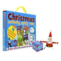 Christmas Activity Carry Case 圣诞节4册活动书 精装手提礼盒 英文原版