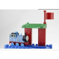 美高 蒸汽小火车轨道场景组装托马斯10581拼装积木玩具