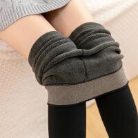 №【2019新款】冬天美女穿的打底裤奶咖啡色连脚裤袜显瘦踩脚一体裤灰色