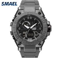 斯麦尔(SMAEL) 手表 电子表 8003男士橡胶带石英表 双显日期计时夜光防水表