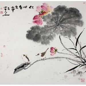 山东美术家协会会员 康硕生 《绿润香宗》68*68cm