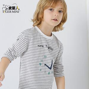 童装男童纯棉长袖T恤儿童薄款中大童打底衫2018春秋季新款韩版潮