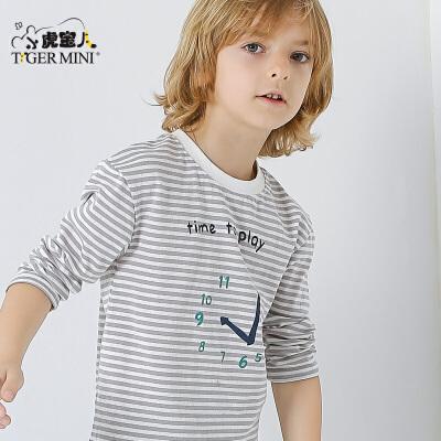 童装男童纯棉长袖T恤儿童薄款中大童打底衫2017春秋季新款韩版潮莱卡棉面料,弹性好吸湿性强,宽松落肩版