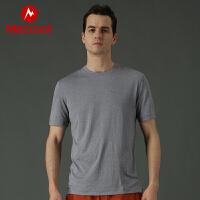 Marmot/土拨鼠春夏新品户外透气速干吸汗男士短袖T恤