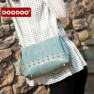 【支持礼品卡】DOODOO 小包包2017新款韩版春款个性流苏百搭单肩斜挎包迷你女包潮 D6118