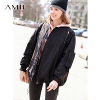 【到手价:612元】Amii极简时尚oversize小个子羽绒服女简约冬季新款短款厚宽松外套