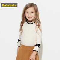 巴拉巴拉童装女童毛衣 针织衫小童宝宝儿童秋装2017新款套头衫潮