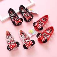 迪士尼夏新款女童凉鞋宝宝1-3岁2儿童公主软底包头果冻韩版沙滩鞋