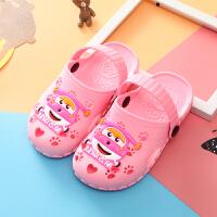 夏季中小儿童凉拖鞋男女童防滑软底拖可爱卡通宝宝包头凉鞋1-8岁