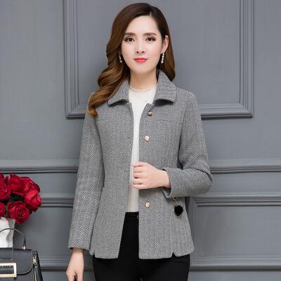 毛呢外套女短款2018秋冬装新款小妮子矮个子显瘦显高加厚呢子大衣