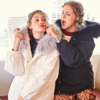【2件2.5折】唐狮冬季新款白色羽绒服女短款韩版学生大毛领羽绒服女