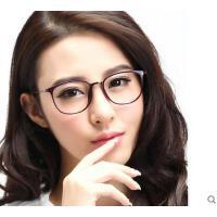 韩版时尚复古大框眼镜女潮圆框眼镜框女学生户外新款变色镜防蓝光眼镜休闲百搭男护目镜