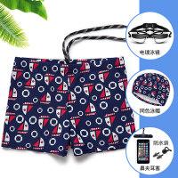 男士泳裤平角宽松大码泡温泉沙滩海边款泳衣时尚游泳短裤装备 不套装