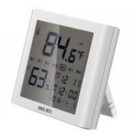 带闹钟电子温湿度计 得力9018LCD按键式显示仪 8958背光式测试仪