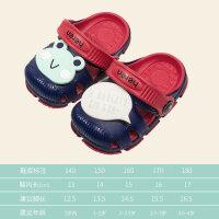 2019年夏季新品童鞋男女����拖鞋�底�胗��鲂�1-3�q2防滑���鐾�和�洞洞鞋中童花�@鞋�敉馍�┬�