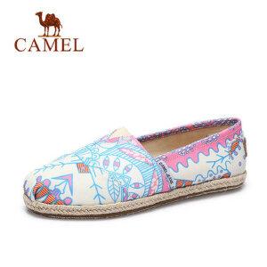 骆驼牌女鞋平底鞋2017春季新款帆布鞋女平跟休闲鞋布鞋