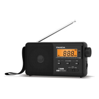 熊猫/PANDA T-04黑色 老人FM收音机便携式TF插卡MP3广播放器半导体充电 黑色