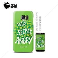 绿巨人三星s8+ s7e手机壳s9 s10plus个性创意新潮签名款磨砂硬
