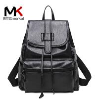 莫尔克(MERKEL)双肩包女韩版甜美学院风包包2018新款旅行包背包女时尚休闲书包女包
