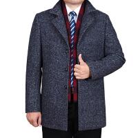 冬季呢大衣男 中老年男士羊绒大衣 中长款羊毛呢大衣外套男爸爸装