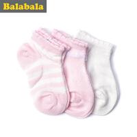 巴拉巴拉童装女童袜子婴童童袜2017夏季新款袜儿童棉袜女3双装